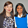 Images: Pritiasha Nikki Harrichand, right, with mentor Danyang Yu, biological sciences