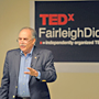 Image: Alumnus Eli Amdur speaks at FDU�s TEDx event.