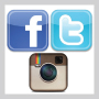 Image: Facebook, Twitter, Instagram Icons