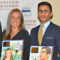 Image: Hall of Fame inductees Katy Daly, BA'07, MAT'08 (Flor), women's soccer and basketball, and Sameer Kahn, BA'06 (Flor), men's golf